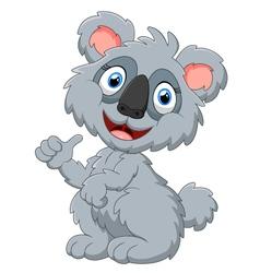 Cute koala cartoon presenting vector