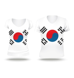 Flag shirt design of South Korea vector image vector image