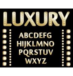 gold alphabet vector image vector image