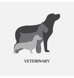 logo design template for pet shops and vector image vector image