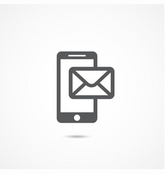 mobile phone sms icon vector image vector image