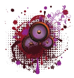Sound Speaker with Floral4 vector image vector image