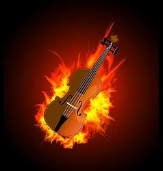 Violin in Fire vector image vector image
