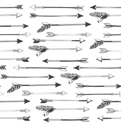 Arrows seamless pattern vector image vector image