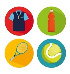 collection elements tennis game vector image