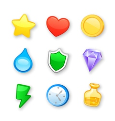 Game art design icons set vector image vector image