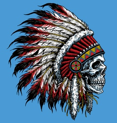 Indian skull vector image vector image