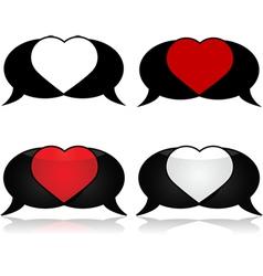 Passionate talk vector image