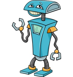 robot cartoon character vector image