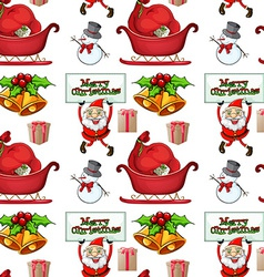 Christmas wrapper vector image