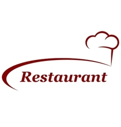 restaurant background with chef hat vector image vector image