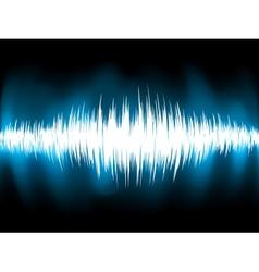 Sound waves oscillating on black background EPS 8 vector image