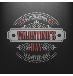 Typography Postcard Happy Valentine Day on a vector image