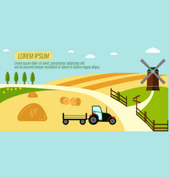 agriculture farming and rural landscape vector image vector image