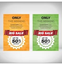 Big Sale flyer template vector image vector image