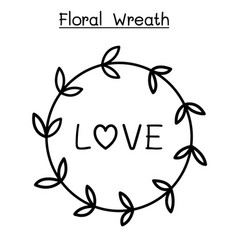 flower wreath graphic design vector image