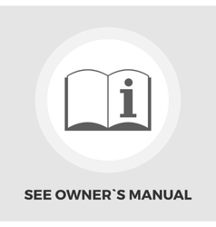 See owner manual icon flat vector image