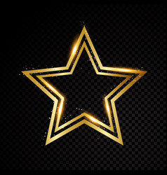 star frame shining circle banner isolated vector image vector image
