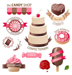 sweets emblems vector image
