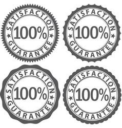 100 satisfaction guarantee sign set vector image