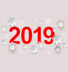 2019 new year number text in chinese calendar vector
