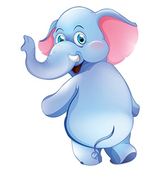 A cute young elephant vector