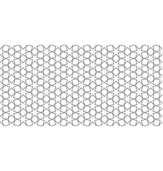 arabic lace seamless pattern with linear vector image