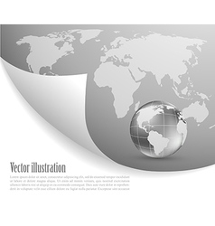 Background with map vector