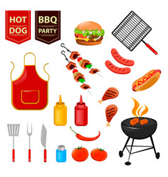 barbecue 01 vector image