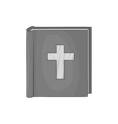 Bible icon black monochrome style vector