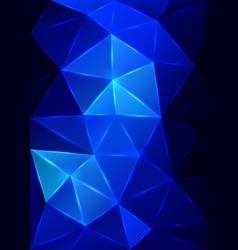 blue triangular mosaic background vector image