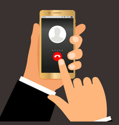 businessman hands telephone call vector image
