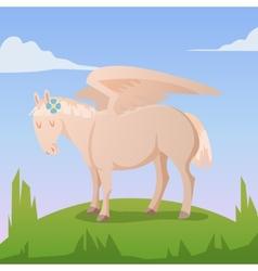 Cartoon magic pegasus vector image