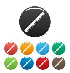 Closed vape pen icons set color vector