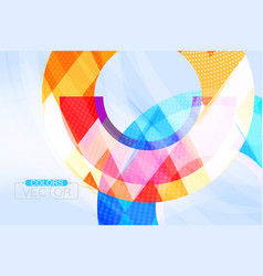 Colorful circular shape scene vector