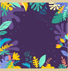 colorful vibrant colors palm leaves background vector image
