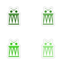 Concept stylish paper sticker on white background vector