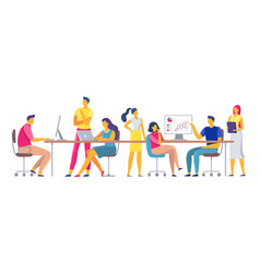 coworkers workplace team working together in vector image
