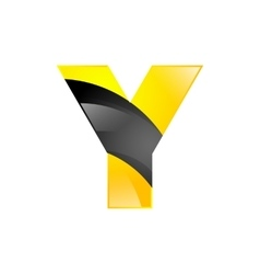 Creative yellow and black symbol letter Y for your vector image