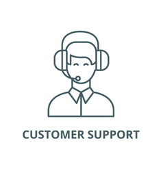 customer support line icon linear concept vector image