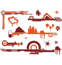 Design elements graffiti vector image