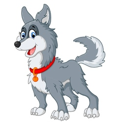 dog cute cartoon vector image
