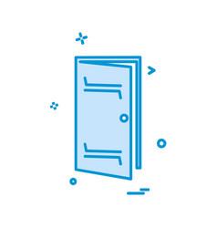 door icon design vector image