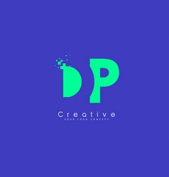 Dp letter logo design with negative space concept vector