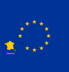 eu flag with france country european union vector image