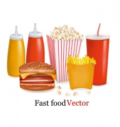 Fast-food background vector