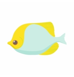 Fish butterfly icon cartoon style vector image