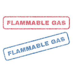flammable gas textile stamps vector image