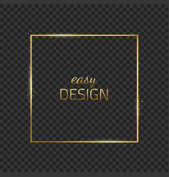 Frame-empty-gold-gray vector