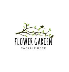 garden logo design vector image